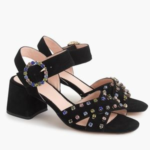 NIB J Crew Penny Jeweled Sandals Size 6